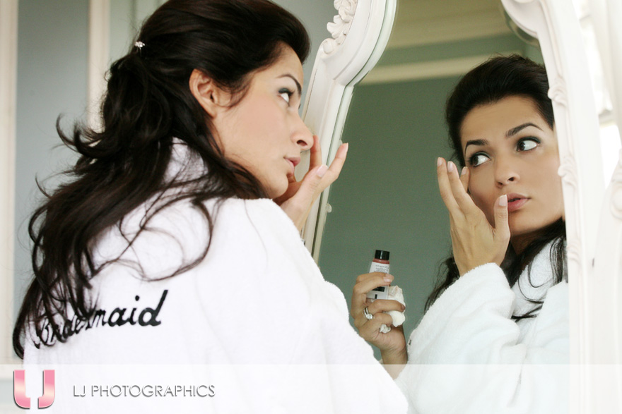 Bridesmaids getting ready!