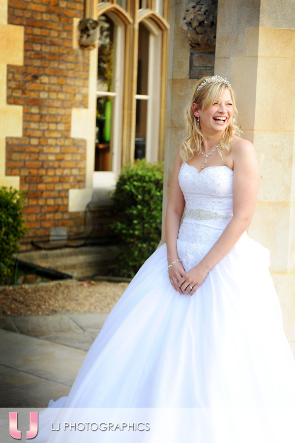 Bride at Oakley Court Hotel, Windsor
