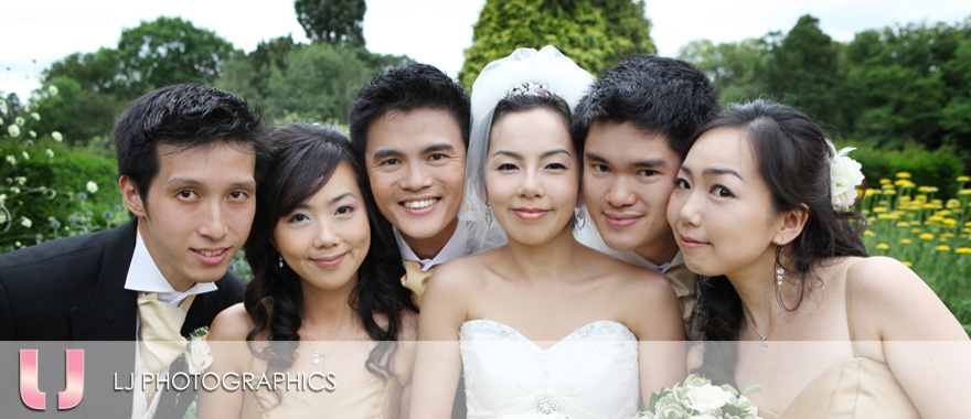 The Bridal Party at Tylney Hall